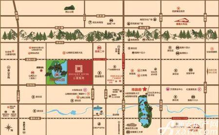 中南漫悦湾交通图