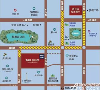 蒙城碧桂园翡翠湾交通图