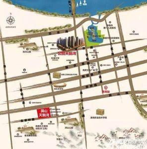 粤泰天鹅湾交通图