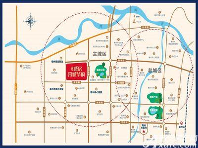 北京城房京城华府交通图