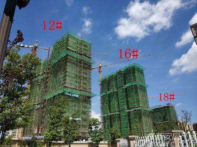 公园道B区御湖12#、16#、18#项目进度(2018.8.23)
