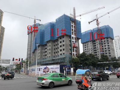 中航长江广场9#、10#、11#楼8月进度(2018.8.29)