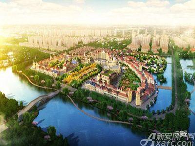 恒大潘安湖生态小镇效果图