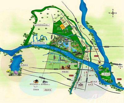 祥源生态城景秀园区位图