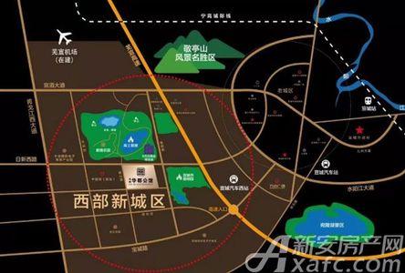 洲峰华郡公馆交通图