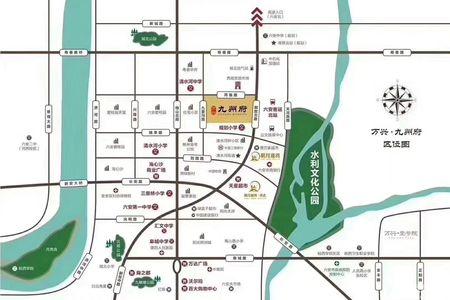万兴九州府交通图
