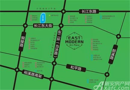 东方摩域艺术商业广场交通图