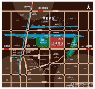 阜南祥源城交通图