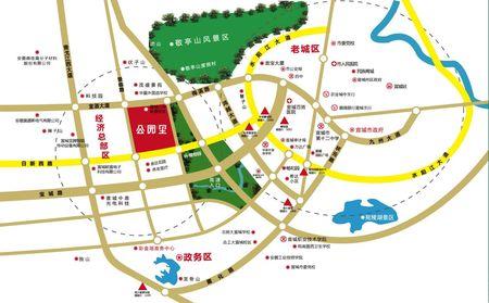 公园里交通图