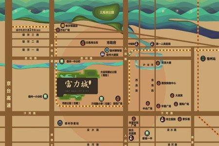 宿州富力城交通图