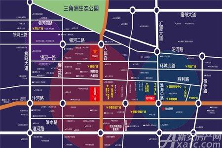 宿州新城吾悦广场交通图