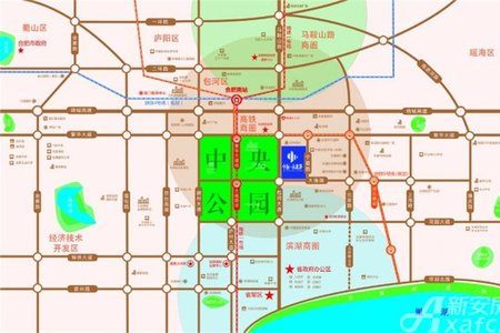 中辰未来港交通图