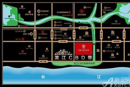中梁·滨江壹号交通图