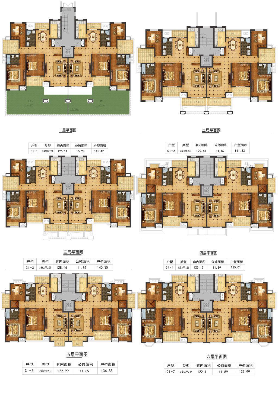 天景庄园C3室2厅140.35平米
