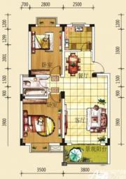 绿源聚龙湾LB3户型2室2厅75.12㎡