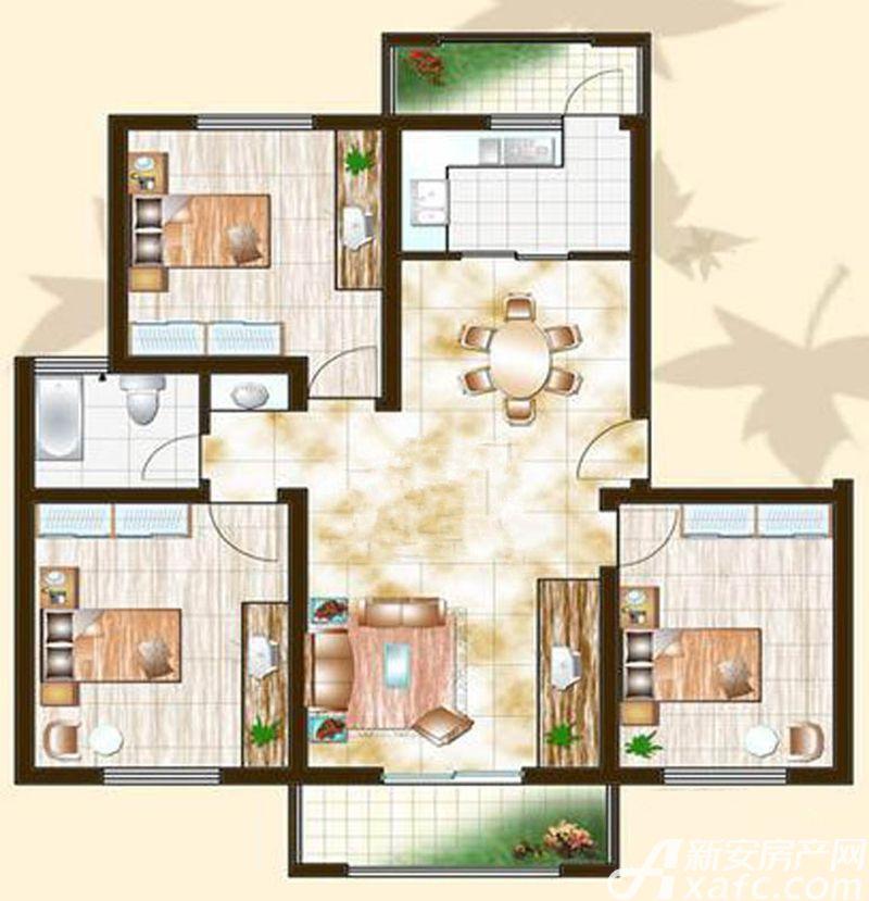 金泰山水文化广场A6户型3室2厅106平米