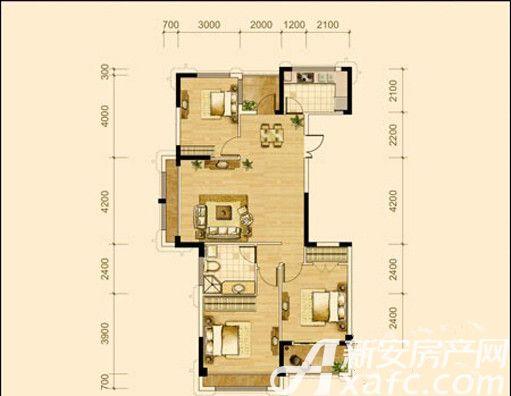德胜中央城C1户型3室2厅120平米