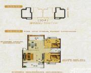 龙登凤凰城A户型2室2厅90.71㎡