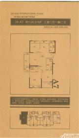 嘉华美庭3#-A73室2厅124.51㎡