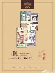 乐泽鑫城D1户型3室2厅105㎡