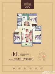 乐泽鑫城E1户型3室2厅112㎡