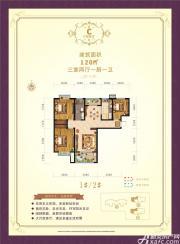 临水苑C户型3室2厅120㎡