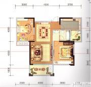 长宏御泉湾8#E2户型2室2厅92㎡