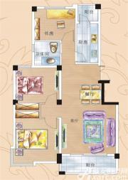 彩虹新城五期C户型3室2厅95㎡