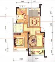长宏御泉湾9#D1户型2室2厅96㎡