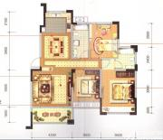 长宏御泉湾9#D2户型3室2厅125㎡