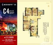 新地城市广场C4清风名苑3室2厅108㎡