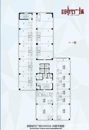 圣联时代广场18-20层SOHO平面图