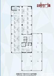 圣联时代广场21层SOHO平面图