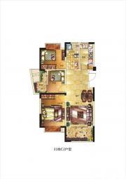 长虹世纪荣廷C2户型3室2厅89㎡