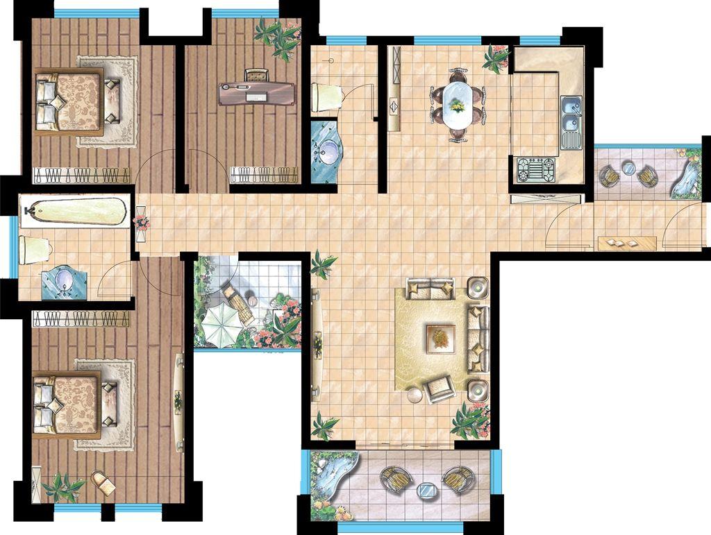 金域香苑D幸福华居3室2厅134.8平米