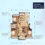 中铁滨江名邸L户型3室2厅129.5㎡