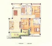 澳森半山美苑C4户型3室2厅135.83㎡
