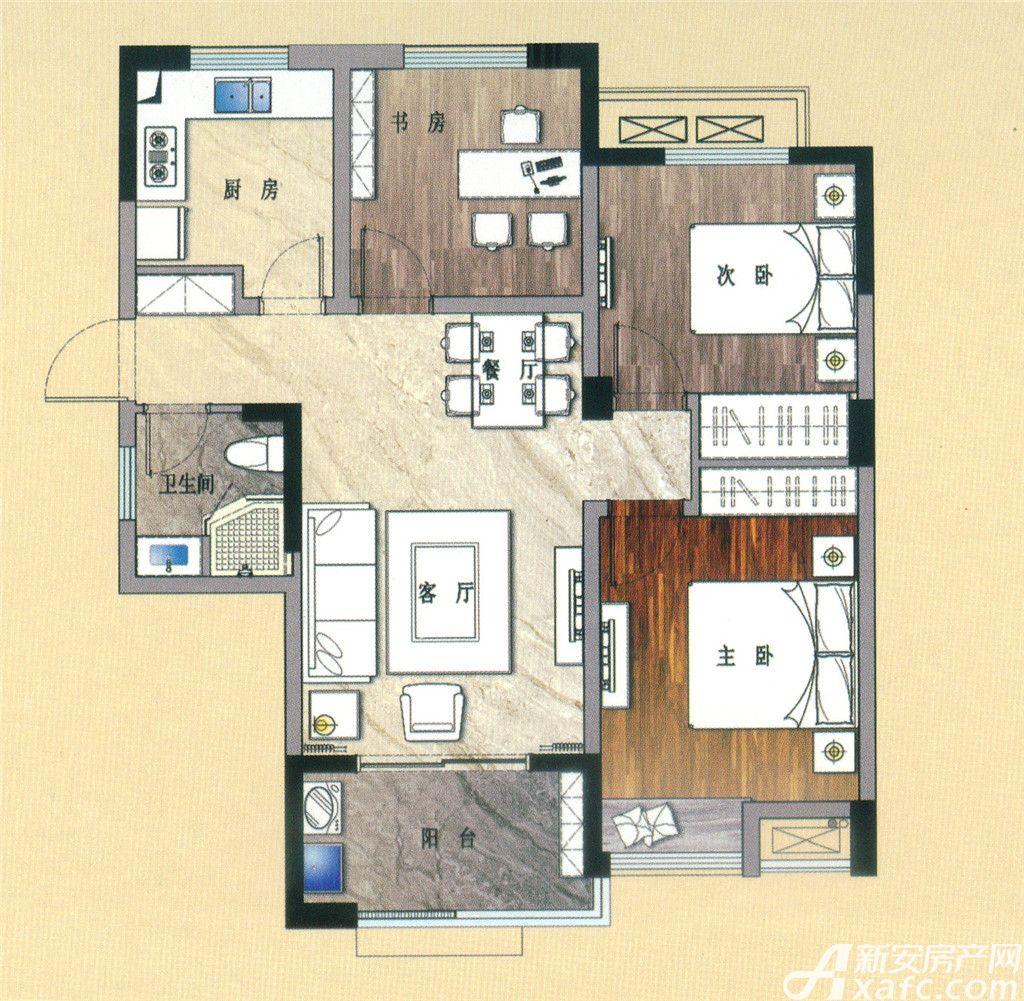 天景庄园G13室2厅89平米