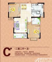 润城帝景国际C1户型2室2厅95㎡