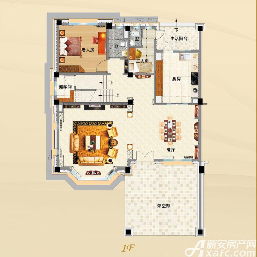碧桂园G215T1F5室3厅400平米