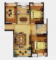 禹洲翡翠湖郡G3户型3室2厅104.66㎡