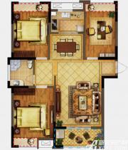 禹洲翡翠湖郡G1户型3室2厅104.03㎡