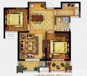 禹洲翡翠湖郡H2户型2室2厅89㎡