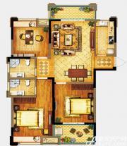 禹洲翡翠湖郡A1户型3室2厅123㎡