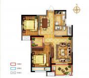 禹洲中央广场一期D3户型2室2厅85.01㎡