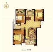 禹洲中央广场二期D1户型3室2厅109㎡