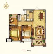 禹洲中央广场二期C2户型3室2厅95.61㎡
