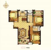 禹洲中央广场二期C1户型3室2厅119.26㎡