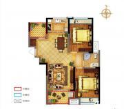 禹洲中央广场一期D2户型2室2厅94.67㎡