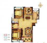 禹洲中央广场一期D1户型3室2厅113.45㎡